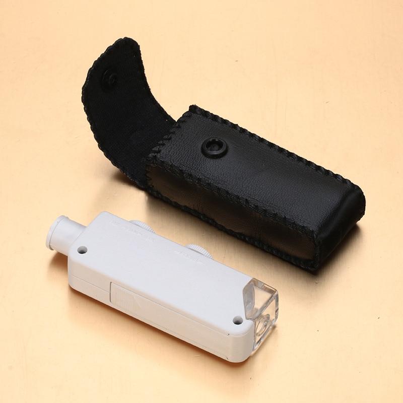 Nova Handheld 160X-200X Lens Zoom Ampliação LED lâmpada luz Microscópio de Bolso Lupa Lupa equipamento ao ar livre