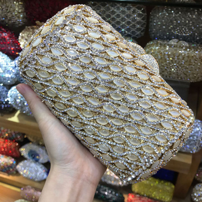 Shiny Crystal Evening dress Clutch Bag Women Metal Minaudiere day Clutches Gold flap Stones Wedding Purse Bridal shoulder Bags excelsior new arrival day clutches bag purse clutch handbags shiny ultrathin women evening party bags gold sequins envelope bag