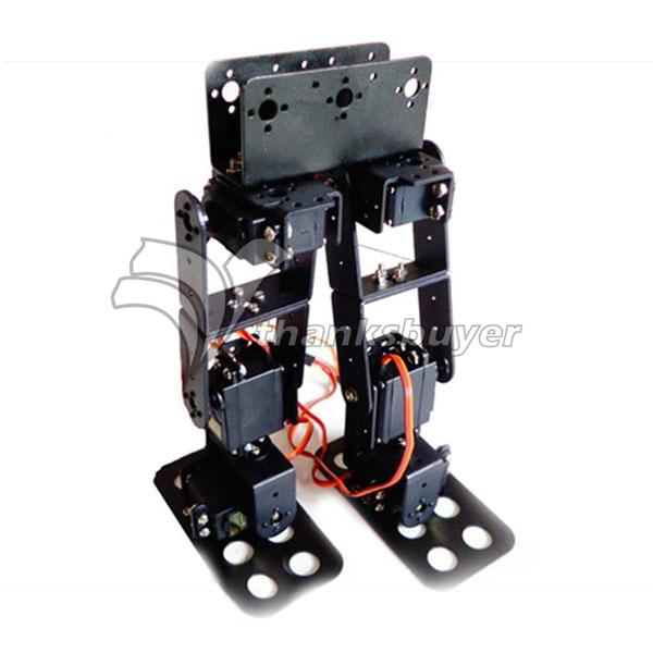 6DOF Biped Robot éducatif Kit Servo support & 6 pièces MG996R Servos & contrôleur 32 canaux & PS2 main tige