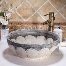 Художественный Европейский Стильный счетчик топ раковина для умывания фарфоровая раковины для ванной комнаты керамическая раковина lavabo