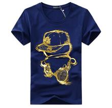 5XL Fashion Slim Short-sleeved Round Neck Summer Mens T-shirts 2017 Men s T-shirt MenT shirt for Korean mens clothing