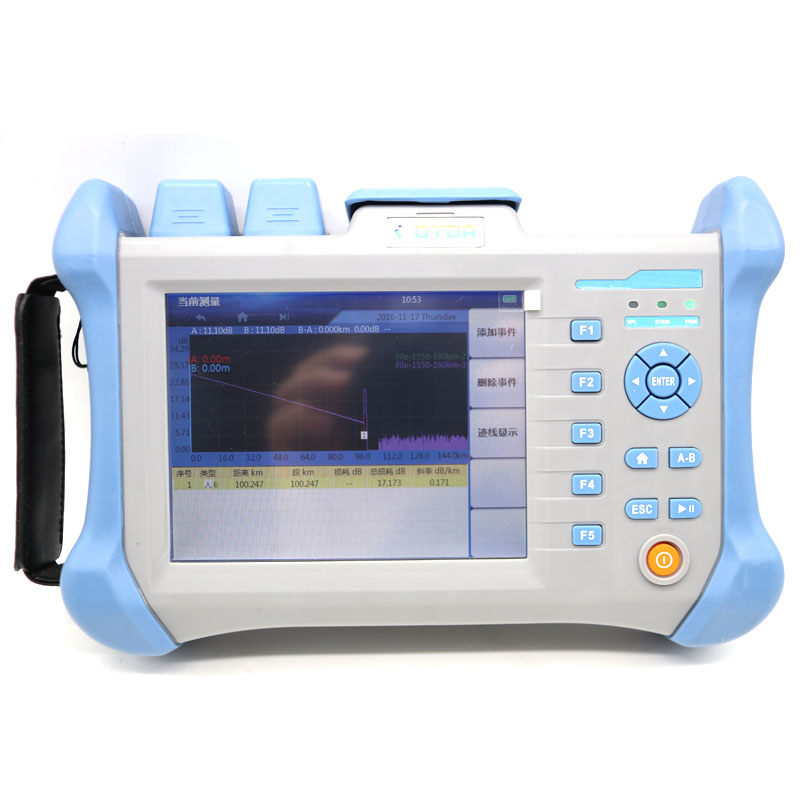 Fiber optic OTDR SD2002 Optical Time Domain Reflectometer 120km with EXFO comparision 5.6 inch screen English menu 30/28dB