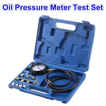 Miernik ciśnienia oleju narzędzie do testowania zestaw Tester miernik oleju napędowego samochód na benzynę garażu akcesoria środek narzędzia ręczne w połączeniu garnitur Gauge zestawy tanie i dobre opinie 24cm 32cm Other 1300g Multi-functional Metal + Plastic Honda