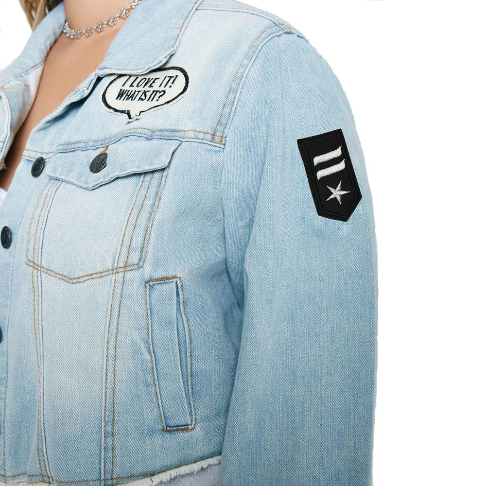 0d7f1c3216f Kissmilk Plus Size Fashion Women Clothing Solid Streetwear Casual  Distressed Short Denim Jacket With Patches Big Size Coat 6XL