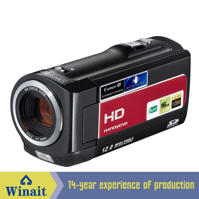 Winait 16X digital zoom digital video camera with 5.0Mega pixels CMOS sensor LCD Display li-Ion BatteryWinait 16X digital zoom digital video camera with 5.0Mega pixels CMOS sensor LCD Display li-Ion Battery
