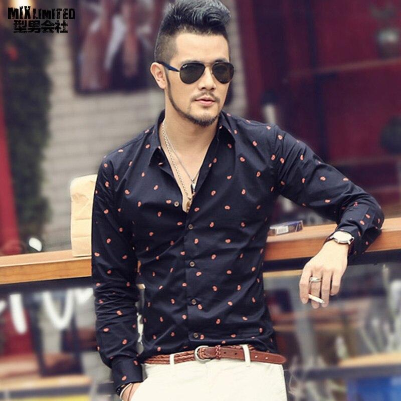 Unique And Fashionable Long Men: Aliexpress.com : Buy New Mens Famous Designer Print Shirt