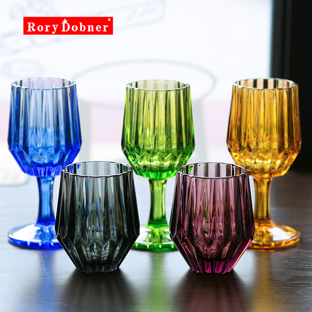 champagne cup cocktail glass whiskey cups crystal sculpture juice colored glass goblet wine glass crystal engraved - Colored Glass