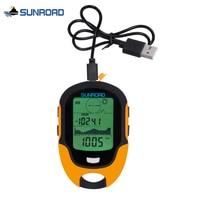 SUNROAD Pocket Watch Women Men Digital LCD Altimeter Barometer Compass Thermometer Hygrometer Flashlight Clock USB Rechargeable