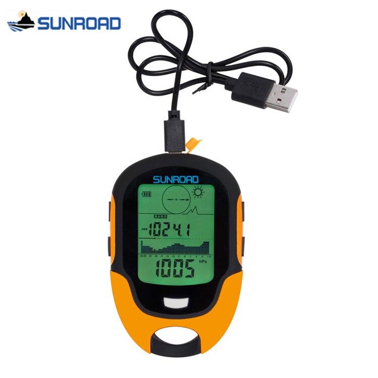 SUNROAD montre de poche femmes hommes numérique LCD altimètre baromètre boussole thermomètre hygromètre lampe de poche horloge USB Rechargeable