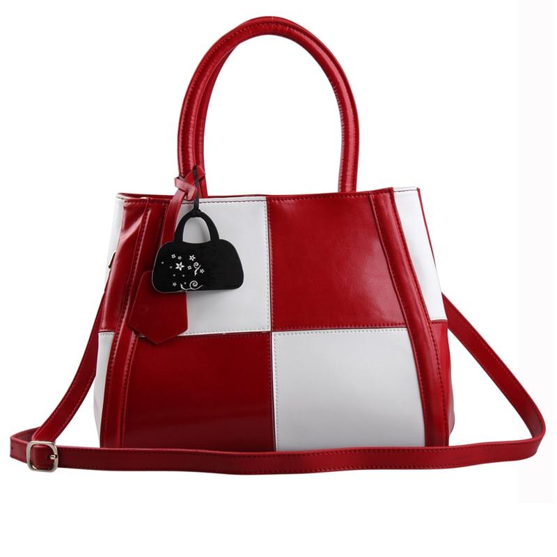 100% Genuine Leather Bag Fashion Women Handbag Tote Handbags Single Shoulder Bags Patchwork Cowhide Women Messenger Bags Bolsa
