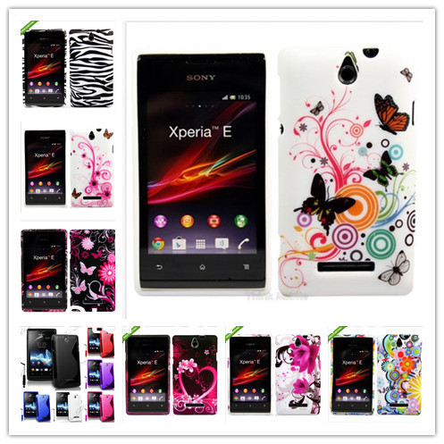 Silicon COVER CASE FOR SONY XPERIA E Dual C1605 C1604 C1505 C1504+1pc Mobile phone stylus & 1 SCREEN PROTECTOR