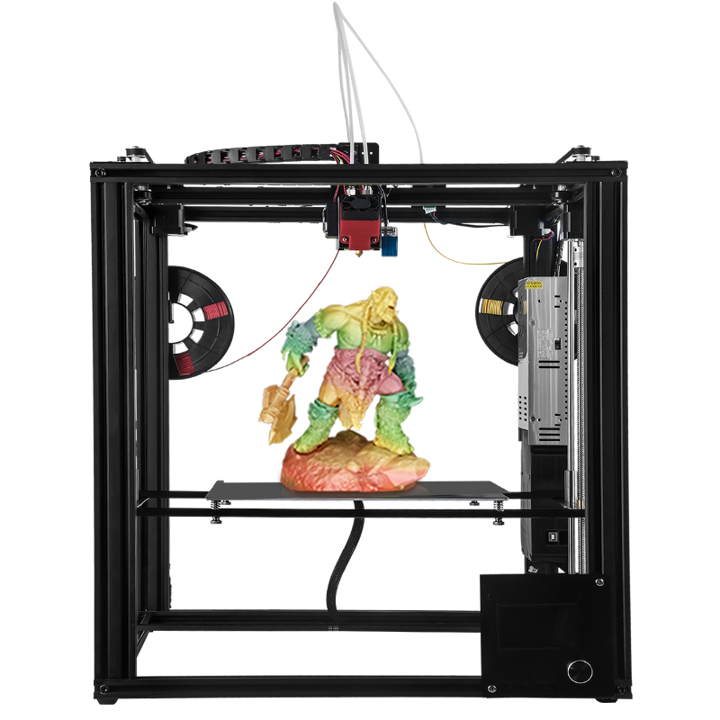 Zonestar металлический большой Размеры Алюминий Рамки 3D-принтеры impressora DIY Kit dule экструдер смешивания Цвет auto level лазерная гравировка
