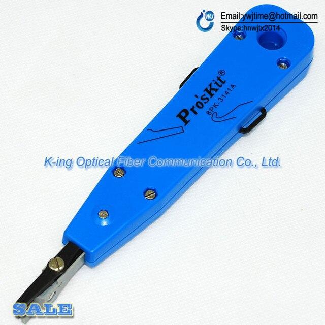 Pro'sKit 8PK-3141A Moda de Cable tire Herramienta de Impacto Con Destornilladores, KRONE 110 Placa de Terminales de Engaste Dispositivo, Cortador de Alambre