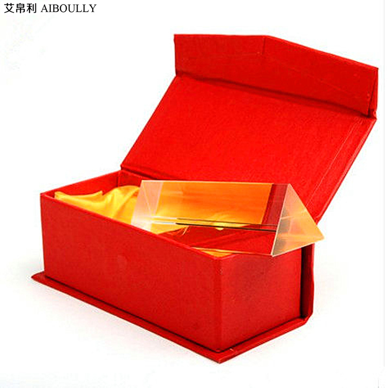 AIBOULLY 150 * 30 * 30 optical prism scientific experiment physical prism primary students experimental instrument material physical science optical experiments triangular prism convex lens physics optical instruments durable quality