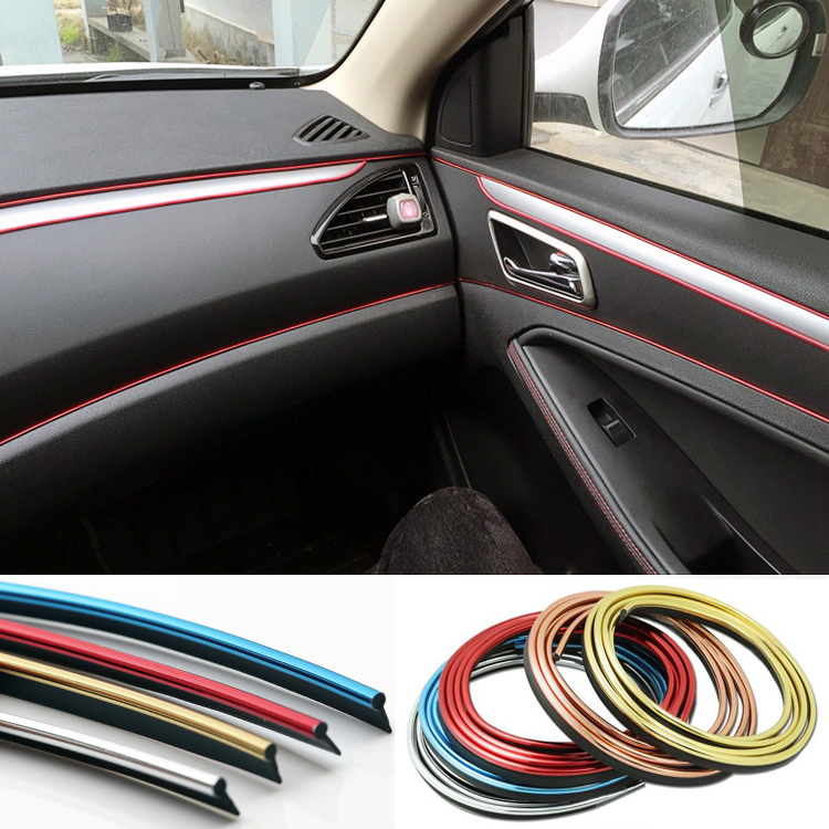 5M Car Styling Interior Decoration Strips Moulding Trim Dashboard Door Edge Universal For Cars Auto Accessories In Car-styling image