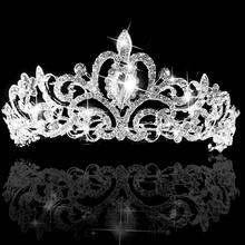 2016 Wedding Bridal Princess Prom Austrian Crystal Headband Tiara Crown Veil Hair Jewelry 8OK5