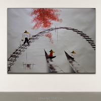 Hand painted Oil Canvas Paintings Vietnam Scenery Modern Home Decoration Wall Art Picture for living room Ornaments Painting