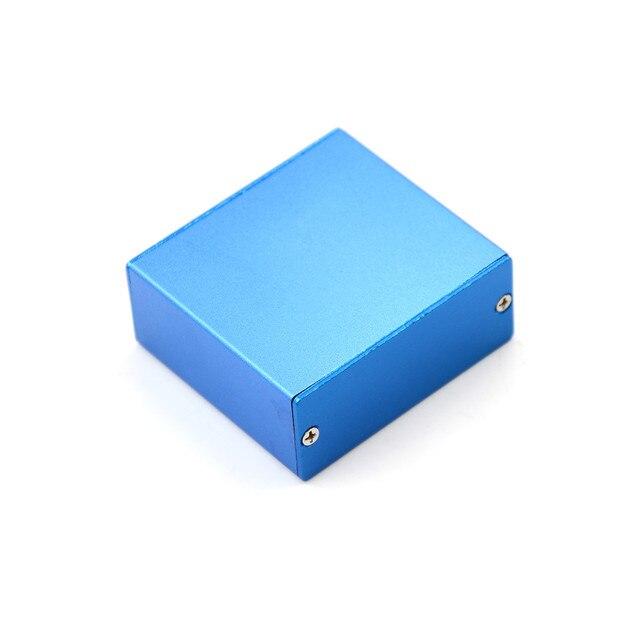 Boîtier de projet électronique 1 pièce   Boîtier en aluminium bleu pour Instruments PCB vente en gros, boîte 50*58*24MM