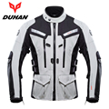 DUHAN Professional Men Motorcycle Touring Travel Riding Jacket Waterproof Motocross Off-Road Racing Raincoat and Protective Gear