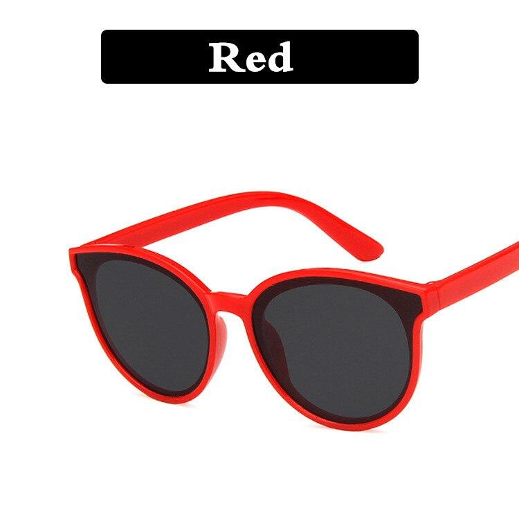 Новое поступление, детские солнцезащитные очки, Ретро стиль, спортивные, для улицы, круглая оправа, очки для мальчиков и девочек, солнцезащитные очки с защитой от уф400 лучей - Цвет линз: Красный