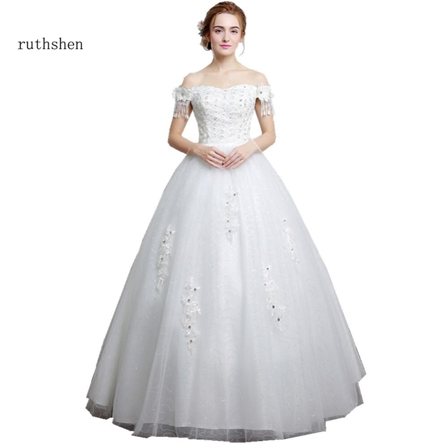 Ruthshen Real Photo Brautkleid 2018 Korea Pailletten Spitze ...