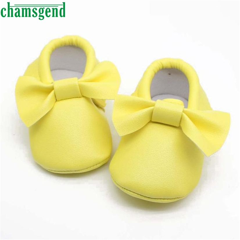CHAMSGEND Best Seller baby shoes cute autumn winter Baby Girl Bowknot Tassels Sequins Soft Sole Sneakers Casual Shoes S35