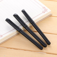 3 Pcs Simple Office Black Gel Pen 0.5mm Stationery Korean Office Material School Supplies Promotional Wholesale [category]