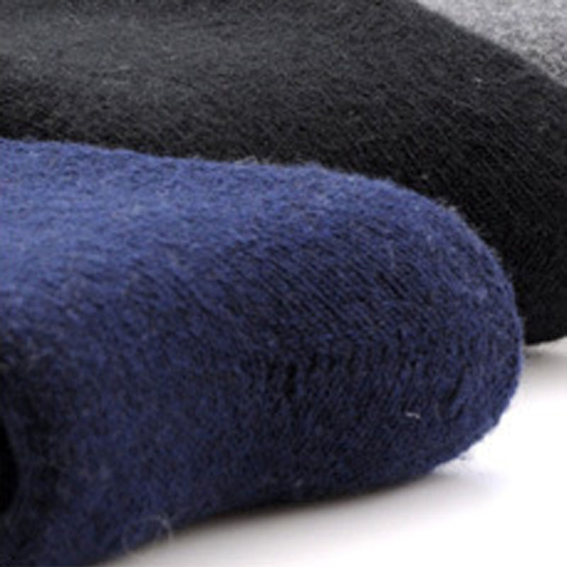 1 Pair Mens Thicken Thermal Wool Cashmere Casual Winter Warm Socks Drop ship