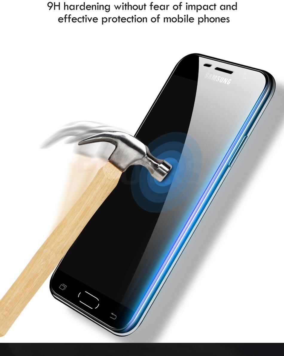 3 sztuk folia na wyświetlacz 9H 2.5D szkło hartowane dla Samsung Galaxy A7 A9 2018 J6 A6 A8 J4 Plus szkło ochronne do Samsung A5 2017 7