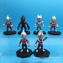Ultraman Model Action Character Super Hero Doll Children Toys Household Supplies Festival Gifts Animation Characters Set 6 Sets недорого