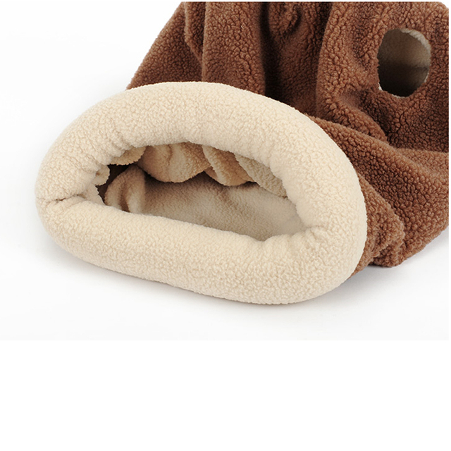 DoreenBeads 43x48cm Cats Sleeping Bag Pet Cat Beds Mats Pads Autumn / Winter Soft Warm Fleece Bed for Cat Puppy Small Dog Sleep