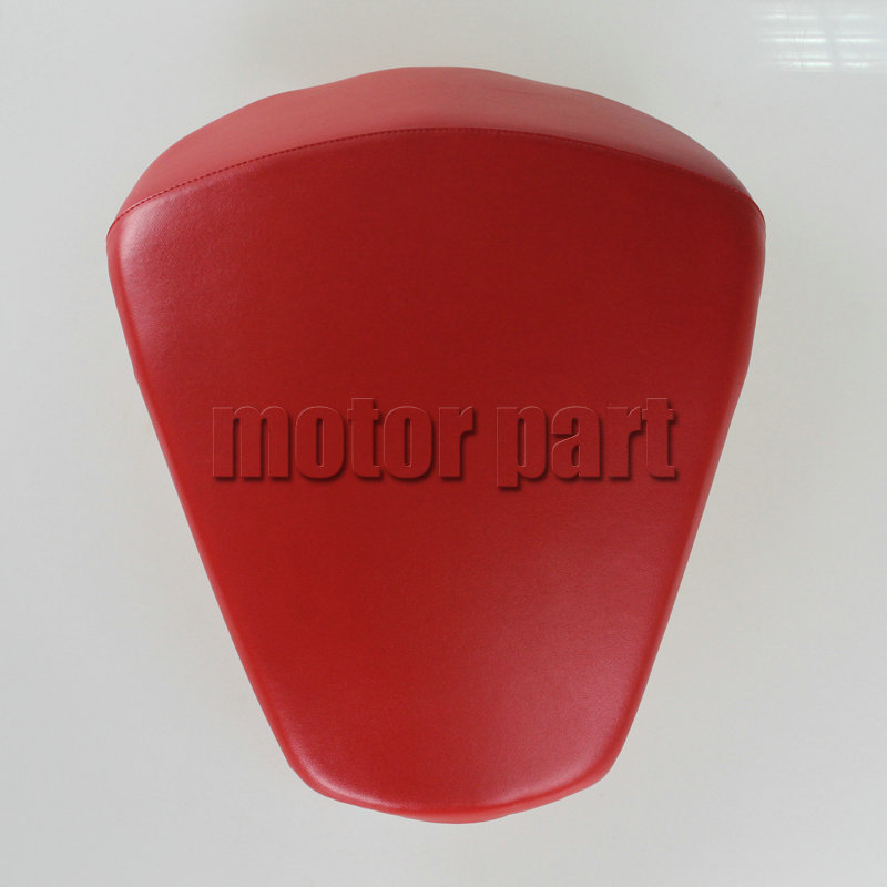For KTM 390 DUKE Motorcycle Leather Pillon Passenger Rear Seat Red Color for ktm 390 duke motorcycle leather pillon rear passenger seat orange color