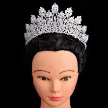 Diademi E Corone di HADIYANA Classico di Nuovo Modo di Disegno Accessori Per Capelli Da Sposa Anniversario di Matrimonio Delle Donne BC5070 Corona Princesa