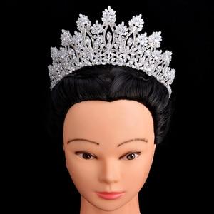 Image 1 - Tiaras และ Crowns HADIYANA คลาสสิกใหม่แฟชั่นการออกแบบเจ้าสาวอุปกรณ์เสริมผมจัดงานแต่งงานผู้หญิง BC5070 Corona Princesa