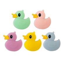Baby Teether Beads Silicone Teething Toys Mini Cartoon Duckling Infants Newborn Pacifier Supplies