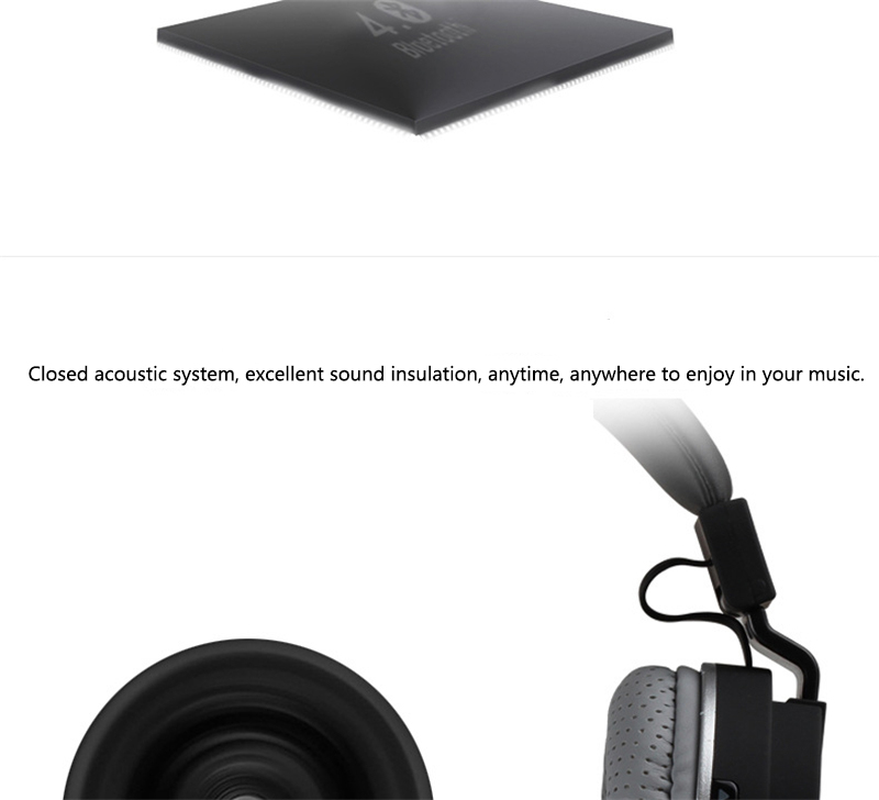 GORSUN E1 Sports Wireless Bluetooth Headsets Stereo Noise Reduction Earphone Heavy bass folded headphones with microphone for PC
