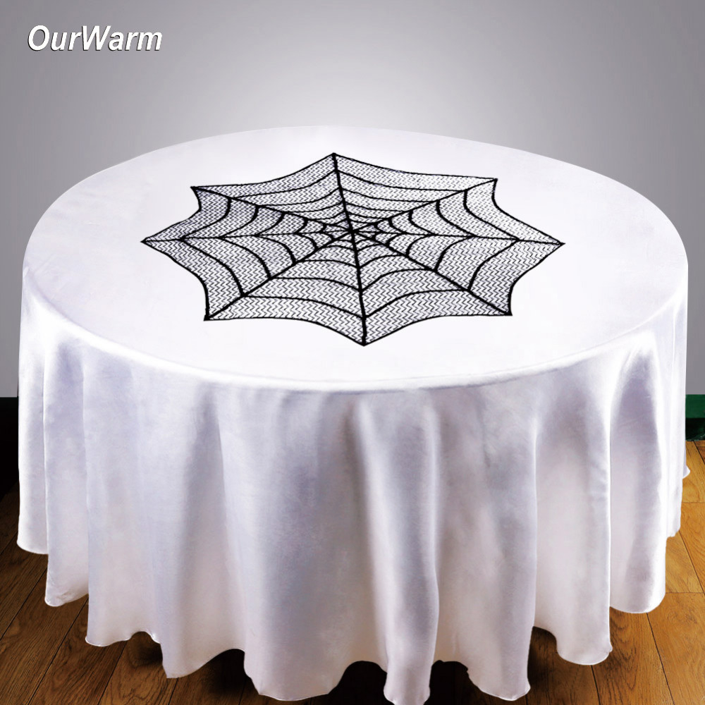 Ourwarm Halloween Table Decoration Spiderweb Table Cloth Mini Lace  Fireplace For Halloween Decoration Event Party Supplies In Party DIY  Decorations From ...