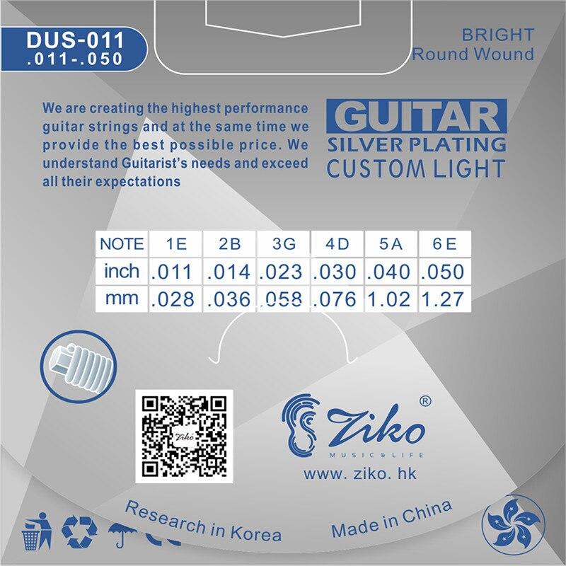 ZIKO DUS-011 011-050 Ակուստիկ կիթառի լարային - Երաժշտական գործիքներ - Լուսանկար 2
