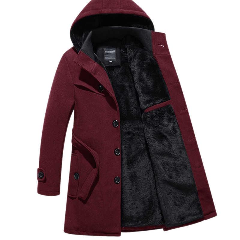 design intemporel 1f350 62fd9 AYUNSUE manteau en laine homme hiver grande taille noir Slim manteau homme  hiver veste pardessus Casaco Masculino Inverno manteaux KJ237