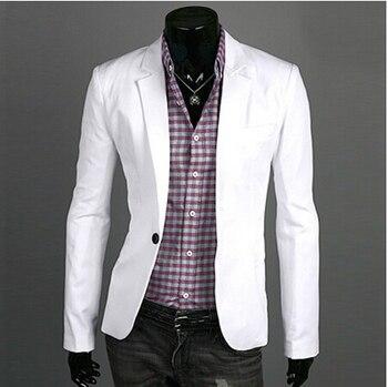 Blazer men 2019 New Arrival Fashion Clothing Wild Single Button terno suit Jacket Men's Casual Slim Fit Suit blazer masculino 1