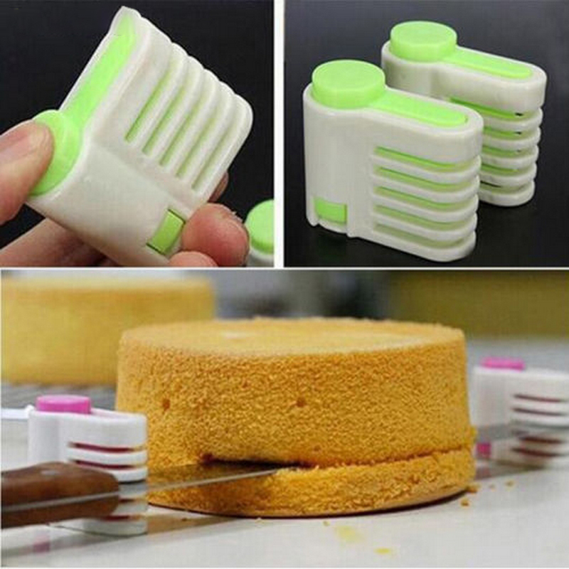1Pc Plastic DIY Cake Bread Cutter Leveler Slicer Cutting Fixator Kitchen Accessoires Bakeware Backing Pastry Tool (7)