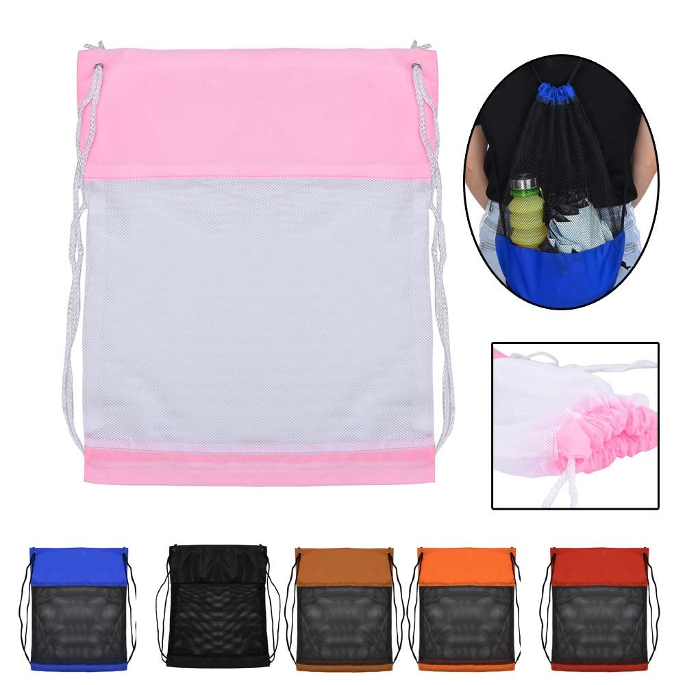 Nylon Drawstring Bags  Sport Beach Travel Outdoor Netsack Knapsack Drawstring Backpack School Shoe Bag 1.25