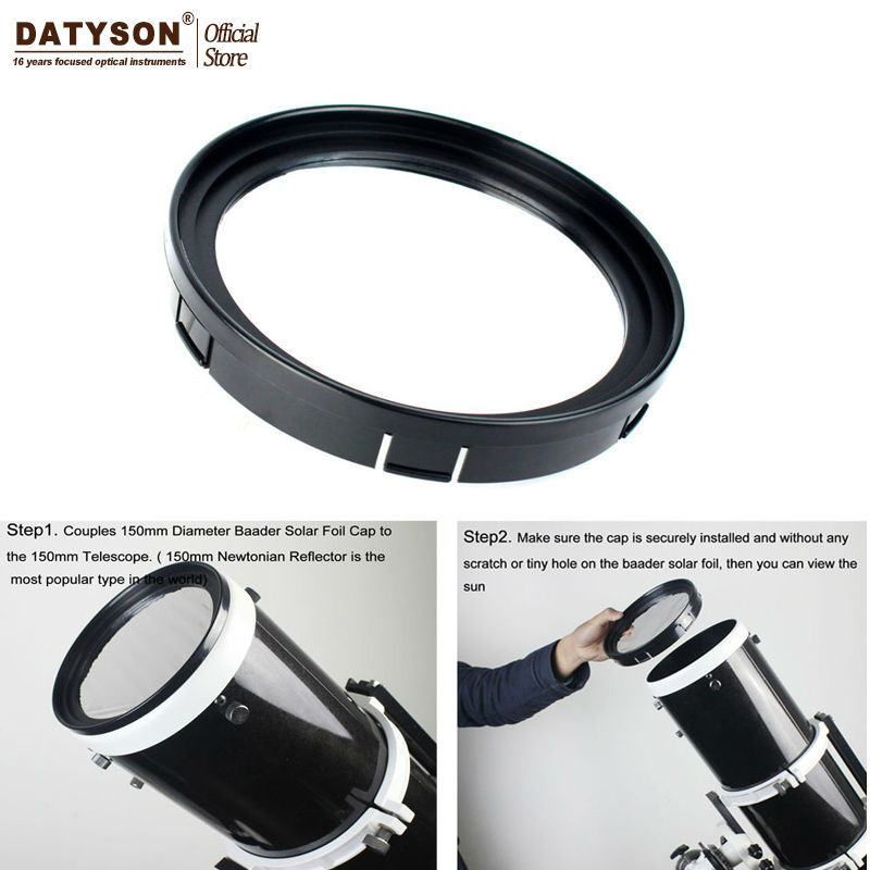 Datyson filtre solaire Film solaire Membrane 5.0 lentille télescope barde film Baader planétarium Film solaire pour 150mm télescopes d'ouverture