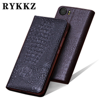 RYKKZ Genuine Leather Flip Cover For Blackberry KEYone DTEK70 Cell Phone Case For BBB100 4 Leather Cover Free Shipping