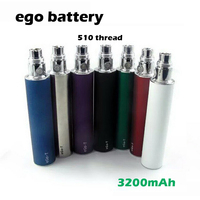 Original LEIQIDUDU ego 3200mah 510 Battery variable voltage ego battery Multi Colors e cigarette e cig vaporizer