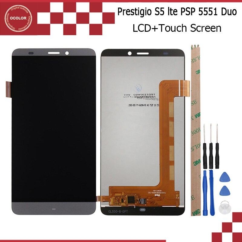 imágenes para Para Prestigio Gracia S5 Lte PSP5551 Duo Pantalla LCD y Asamblea Del Digitizador de la Pantalla Táctil Perfecta Reparación Parte 5.5 pulgadas + herramientas