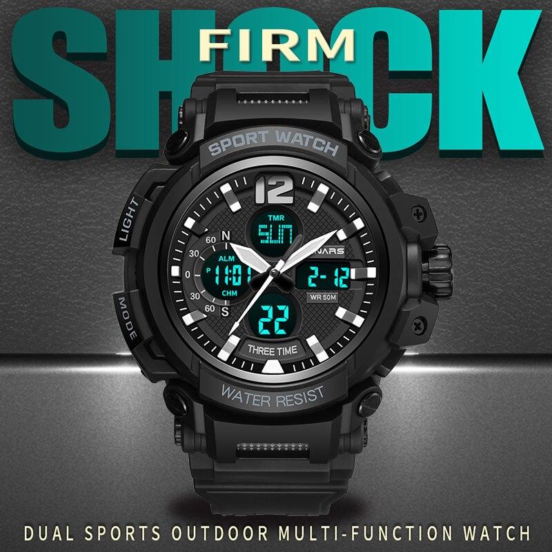 G relojes deportivos para hombre relojes de pulsera digitales impermeables  a prueba de agua reloj para hombre relojes de pulsera electrónicos LED para  ... e119fd42a63d