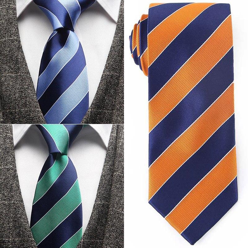 Fashion Ties Necktie Men's Business Wedding Neck Tie 7.5CM Male Dress Legame Gift Gravata Englandd Stripes JACQUARD WOVEN Ties