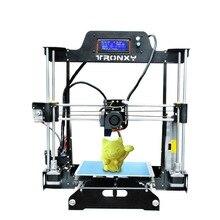 Tronxy Новинка 2017 года дизайн 3D комплект принтера repra Prusa Сталь Структура 220*220*240 мм
