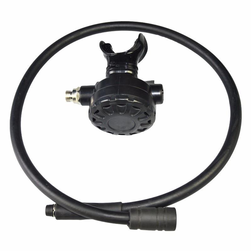 Plongée Poulpe Compact Noir Plongée Régulateur 2 étapes Alternative Souple Facile à Pousser Équipement de Plongée BS112